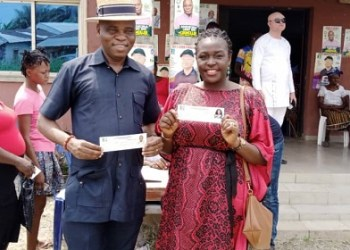 Olorogun Jaro Egbo and his wife, Lady Vivian, after revalidating their membership of APC in Delta State