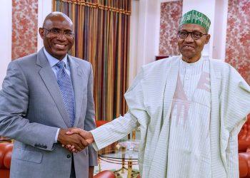 President Muhammadu Buhari and Senator Ovie Omo-Agege