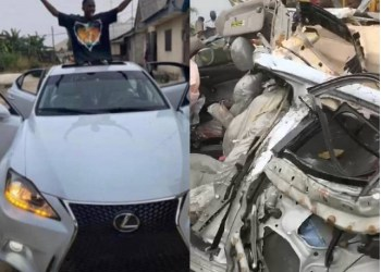 The car on arrival and after the accident
