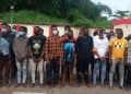 The suspected internet fraudsters arrested by EFCC