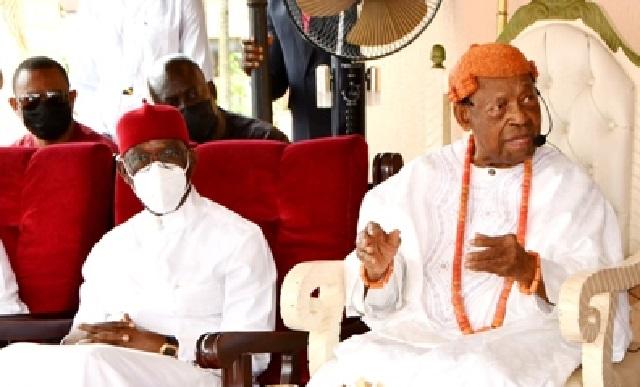 Governor Ifeanyi Okowa and Asagba of Asaba