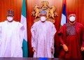 Chief Femi Fani-Kayode with President Muhammadu Buhari