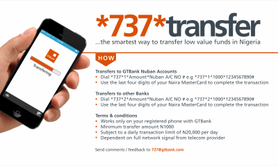 how to transfer from Gtb to gtb and from gtbank to other bank using 737
