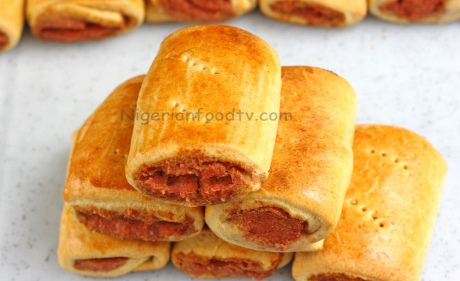 how to make Nigerian Sausage Roll, african sausasage roll, nigerian gala, Nigerian Sausage