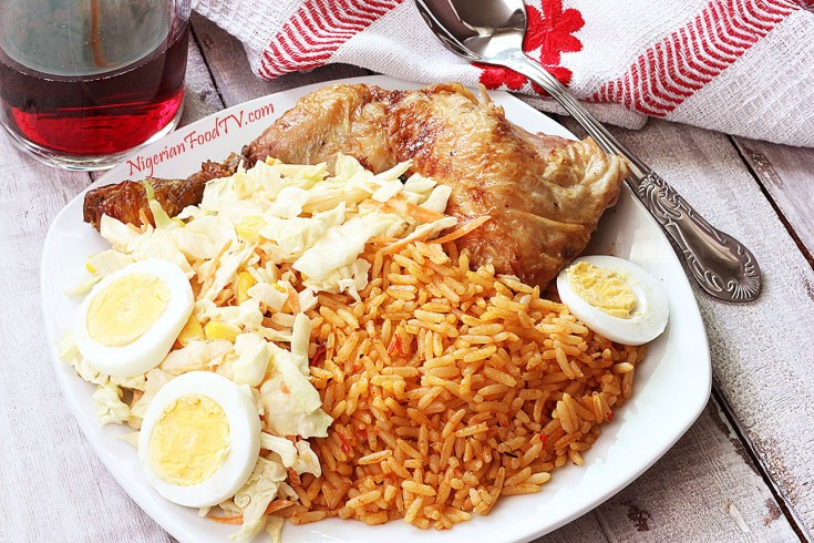 Nigerian Party jollof rice recipe ; easy to follow  with answers to frequently asked questions about jollof rice so that you can't go wrong.