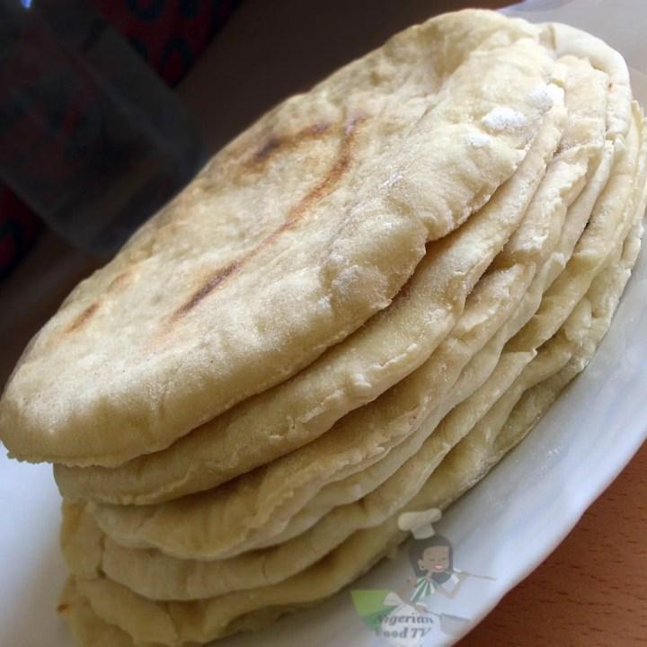 Homemade Shawarma Bread in A Pan & Oven( Pita bread/ Naan Flat Bread)