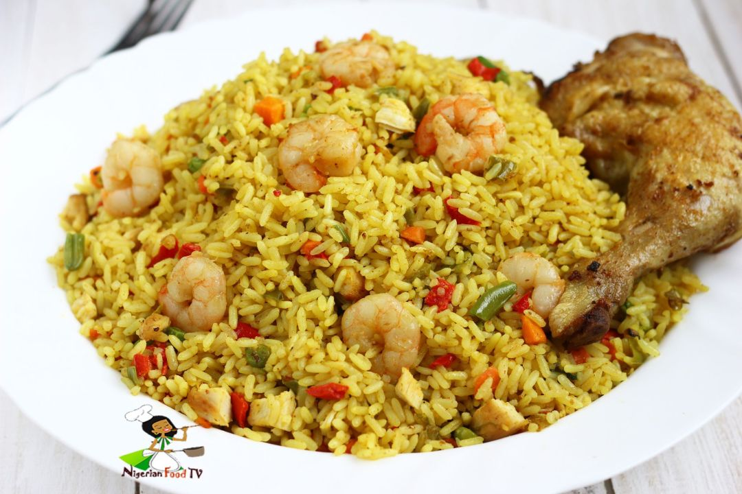 Chicken And Shrimp Fried Rice Nigerian Food Tv