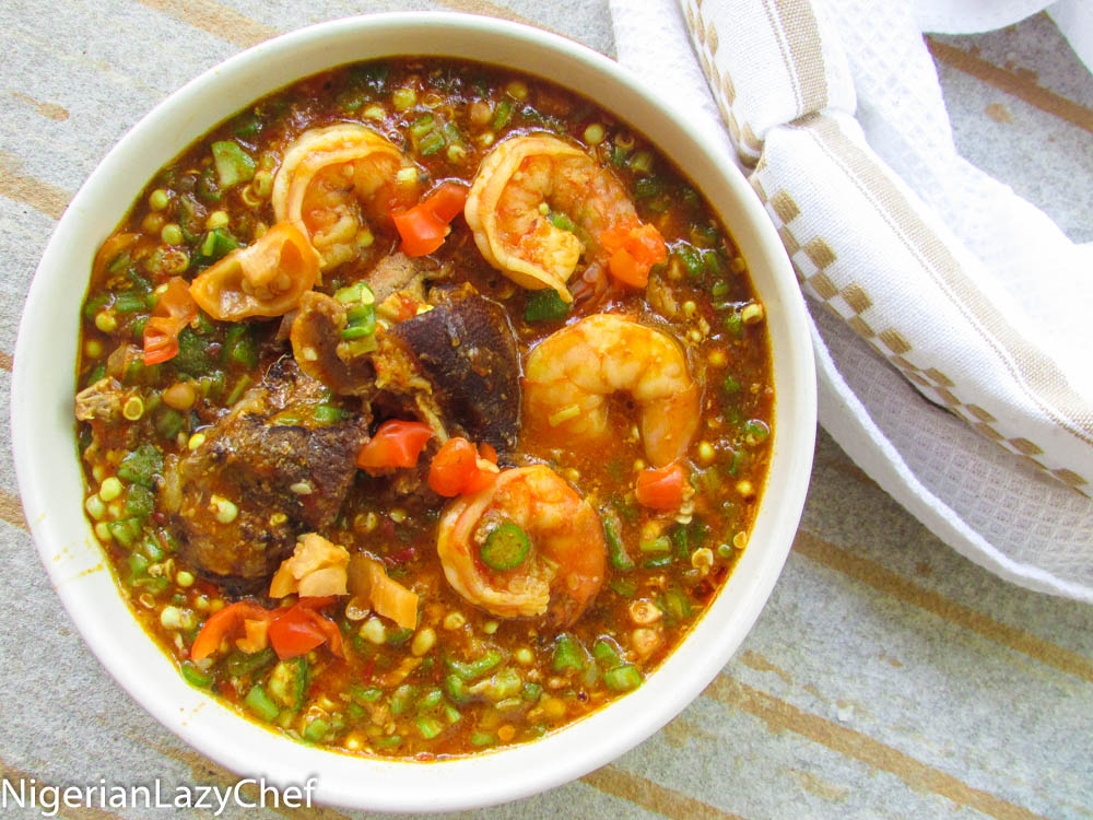 Stewed Okra Soup Nigerian Lazy Chef