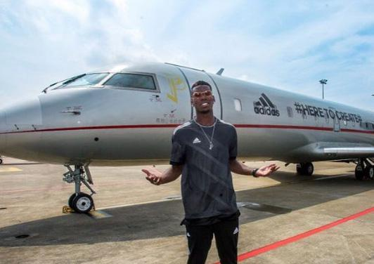 Paul Pogba Private Jet