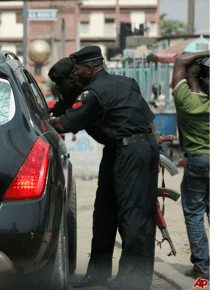 Nigeria Police on Roadblock