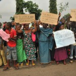 widows protesting