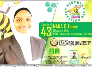 Nigeria Spelling Bee National Finalist