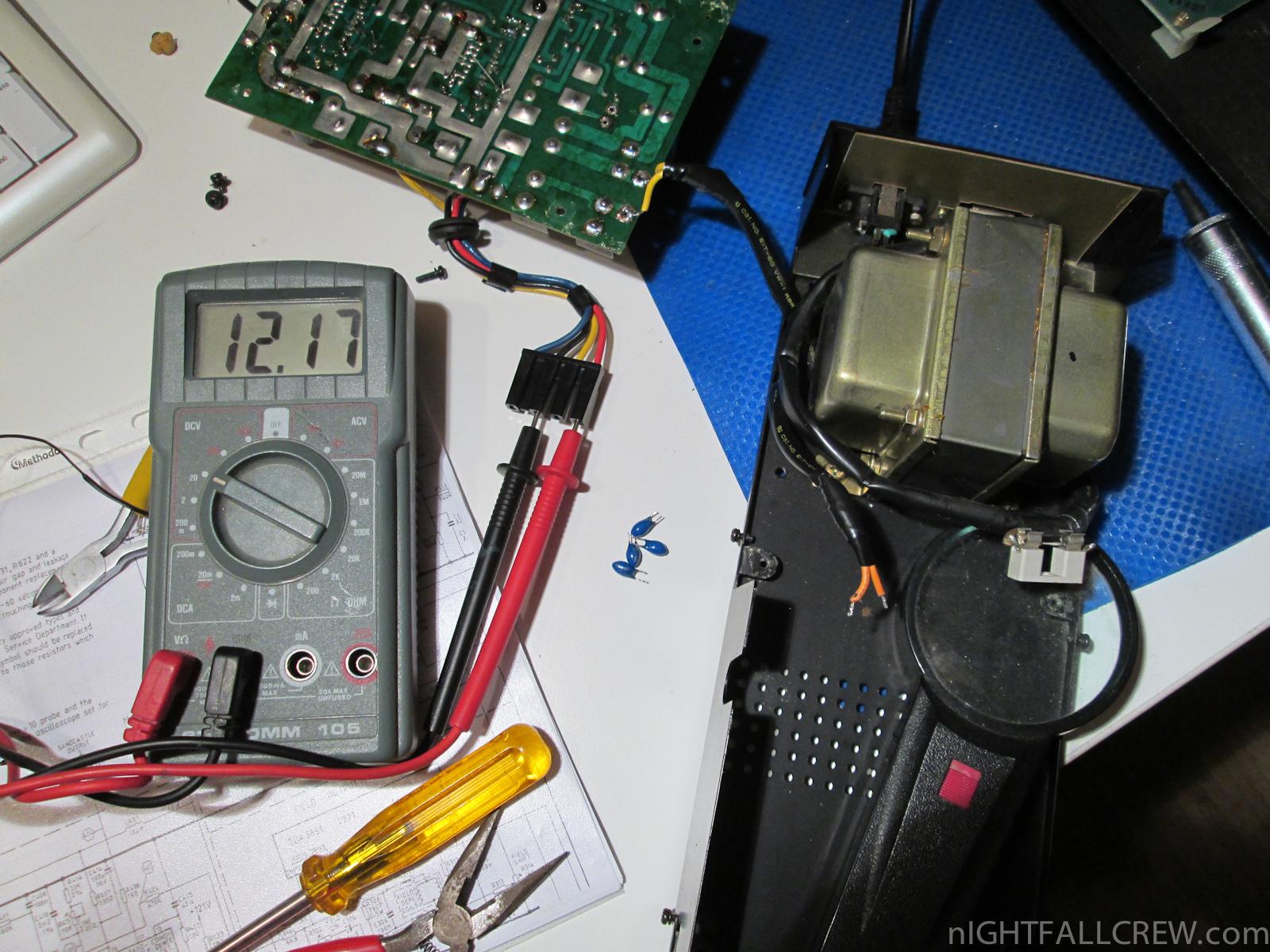 hight resolution of sharp mz 80k power supply repair