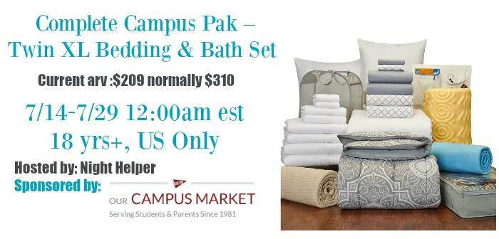 campus pak giveaway