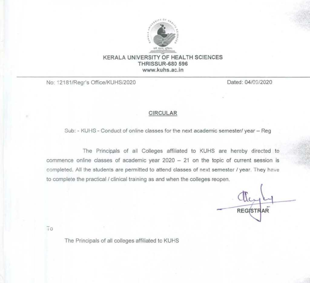 Time Table For Online Classes For Ii&Iii Year B.Sc Nursing