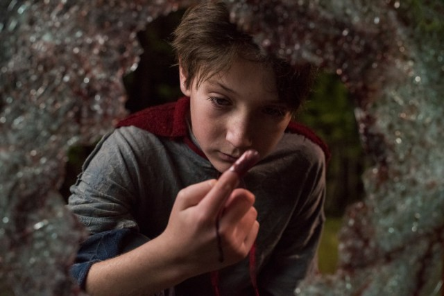 Brandon inspects the carnage that unfolds in BRIGHTBURN