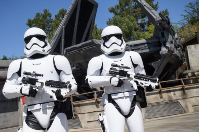 Stormtroppers lead you into Batuu at GALAXY'S EDGE