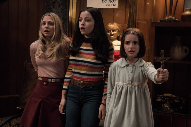 Judy banishes the evil entities in ANNABELLE COMES HOME