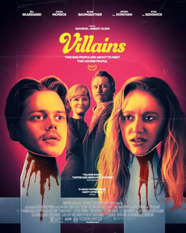 [News] VILLAINS Starring Bill Skarsgård and Maika Monroe Hits Theaters This Friday