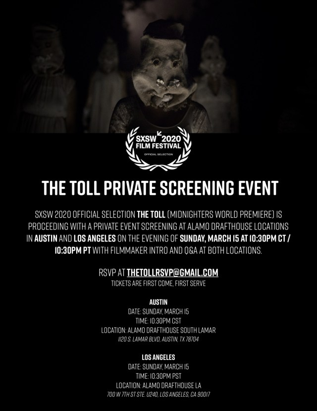 [News] Michael Nader's THE TOLL Getting Special Alamo Drafthouse Screening