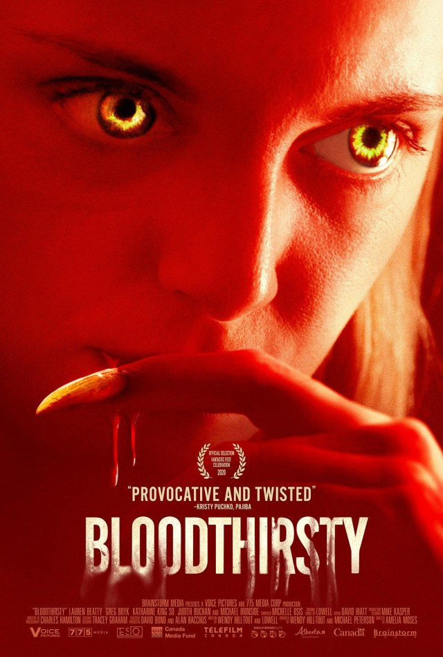[Interview] Lauren Beatty and Greg Bryk for BLOODTHIRSTY