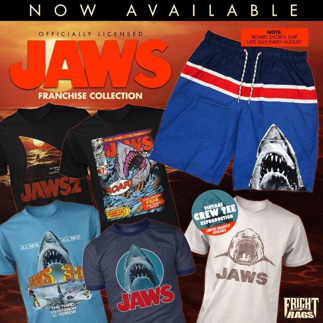 [News] Surf's Up at Fright-Rags with JAWS Franchise Board Shorts
