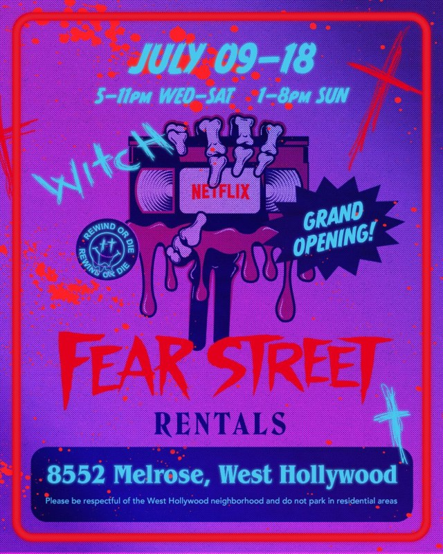 [News] Netflix Brings Shadyside to West Hollywood with FEAR STREET RENTALS