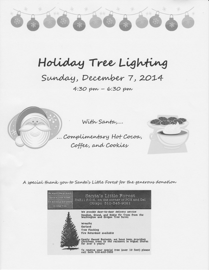 Holiday Tree Lighting Flier