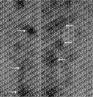 Image of the core of a single enamel crystallite