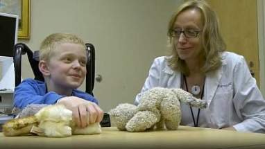 Image of a doctor and patient