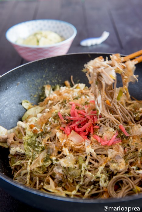 Ricetta Yakisoba  spaghetti alla piastra verdure e carne