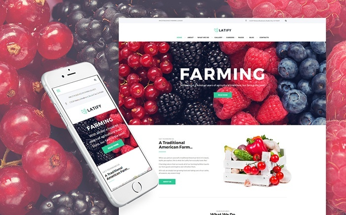 Latify - Private Farm Responsive WordPress Theme