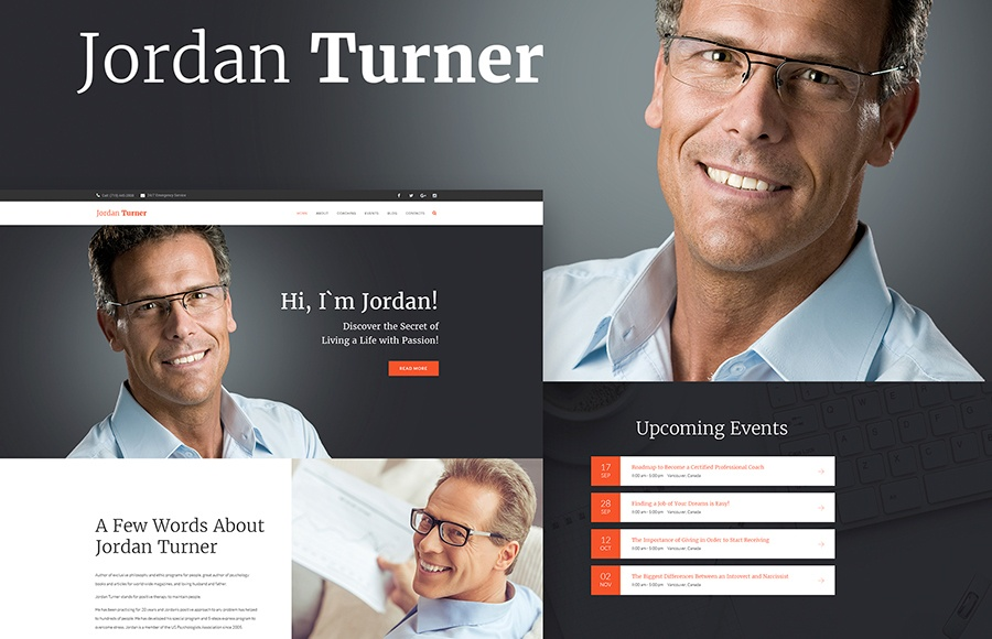 Jordan Turner - Life Coaching WordPress Theme
