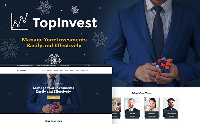 TopInvest - Investment Company WordPress Theme