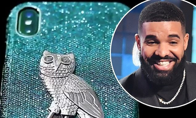 iPhone case made of 18-karat gold with blue and white diamonds Drake bought for $400,000 [Photos]