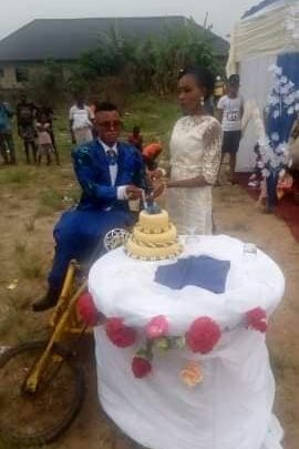 Lady Overwhelmed As She Weds Her Physically Challenged Partner