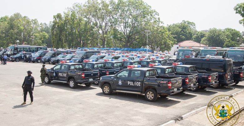 Chinese Government gifts 100 police vehicles to Ghana