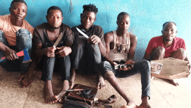 Photo of Herbalist and four others arrested for alleged robbery |PHOTOS|