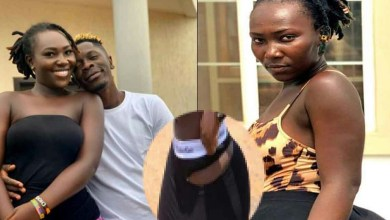 Photo of Shatta Wale's NEW girlfriend goes naked; removes her pants on social media