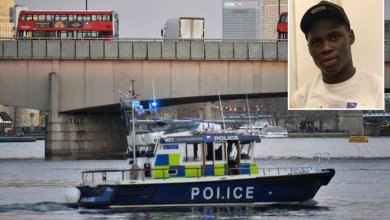 Photo of 20-year-old Nigerian boy drowns after jumping into River Thames to rescue women who fell from London bridge