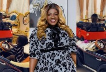 Photo of Tracey Boakye Shares Video Of Her Children Enjoying Their Ride In Their Mini Cars