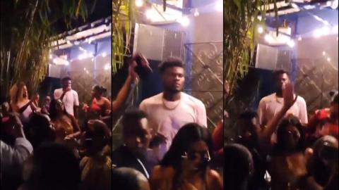 Thomas Partey spotted chilling with ladies after he was reportedly sacked from Black Stars camp [Video]