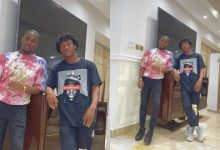 Photo of Check Out Moment Actor, Abraham Attah And Kwame Despite's Son, Saahene Having Wild Fun With Some Beautiful Ladies