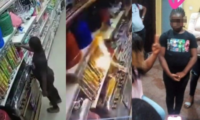 Police grab 9year-old girl identified as the person who set Ebeano supermarket on fire