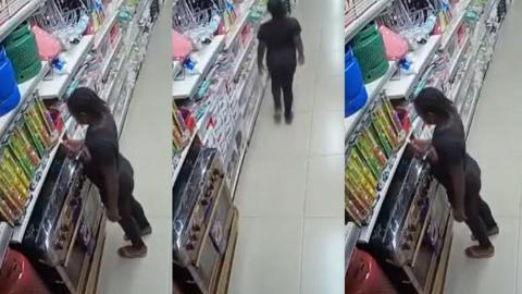 Nigeria: CCTV footage shows how a young girl set a popular supermarket on fire in Abuja