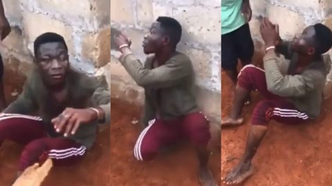 Young Man Who Tried To Steal A 3 Year Old Child For Rituals Caught By Vigilantes (VIDEO)