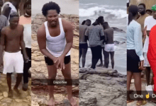 Photo of Shatta Wale And Medikal Perform Self Cleansing Ritual At The Beach- (video)