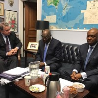 [PHOTOS] #ATIKU Gets to Work Shortly after Arrival in US, proceeds to US Congress