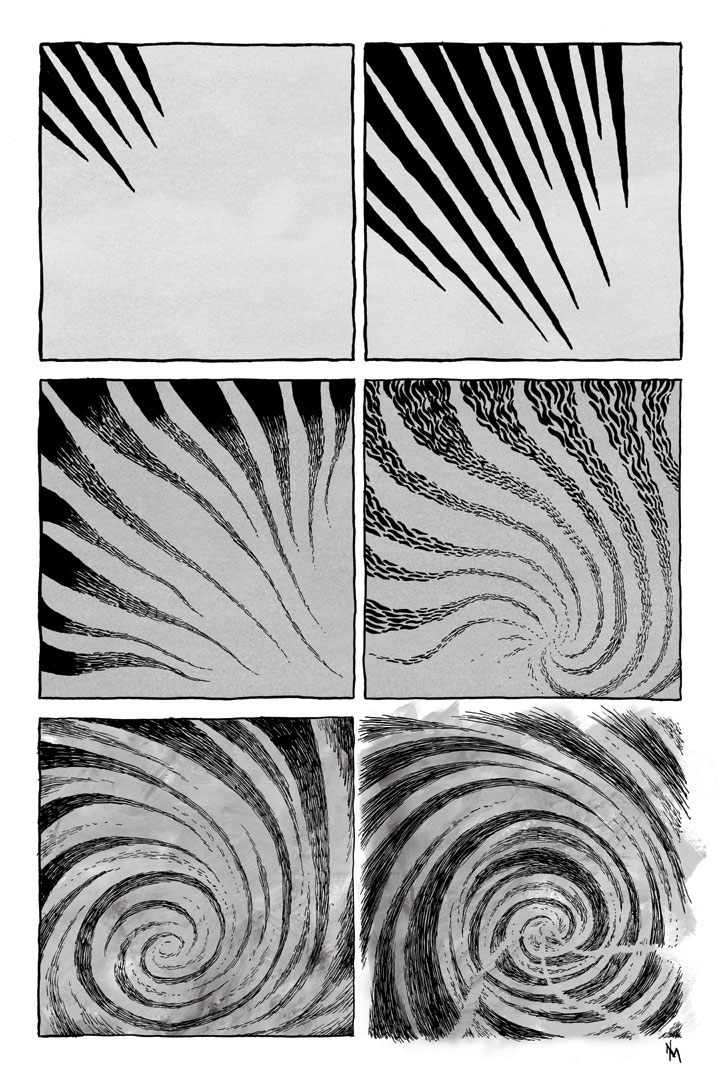 Progression 3 abstract comic