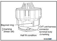 Removal and Installation Procedure for CVT Unit Connector